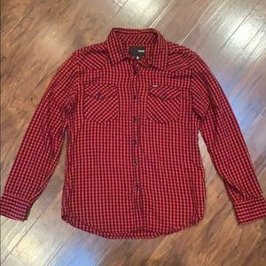 Woman's Hurley red & black flannel